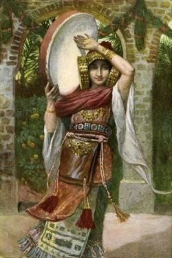 Jephthah 's daughter by J James Tissot - Bible by James Jacques Joseph Tissot