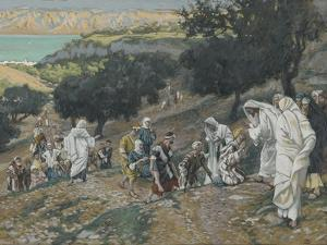 Jesus Heals the Blind and Lame on the Mountain from 'The Life of Our Lord Jesus Christ' by James Jacques Joseph Tissot