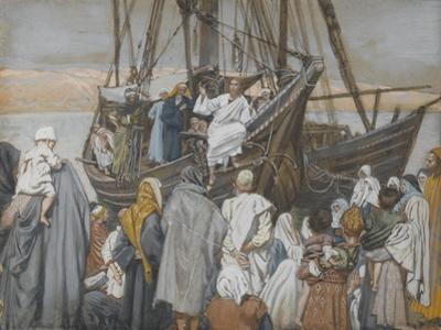 Jesus Preaches in a Ship from 'The Life of Our Lord Jesus Christ'
