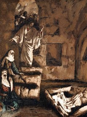 Jesus Raising Lazarus from the Tomb, 1897 by James Jacques Joseph Tissot