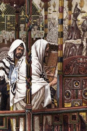Jesus Teaching in the Synagogue, C1897 by James Jacques Joseph Tissot