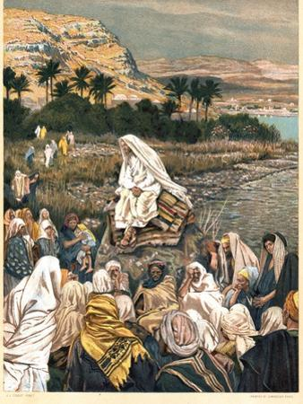 Jesus Teaching on the Sea Shore, C1890 by James Jacques Joseph Tissot