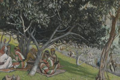 Nathaniel under the Fig Tree from 'The Life of Our Lord Jesus Christ' by James Jacques Joseph Tissot