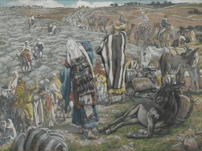 On Return from Jerusalem it Is Noticed That Jesus Is Lost from 'The Life of Our Lord Jesus Christ' by James Jacques Joseph Tissot