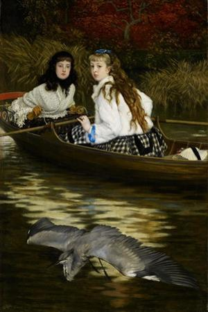 On the Thames, a Heron, C.1871-72 by James Jacques Joseph Tissot