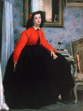 Portrait of Mlle L L, (Young Lady in a Red Jacke), 1864 by James Jacques Joseph Tissot