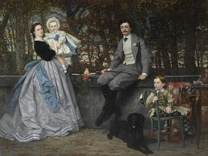 Portrait of the Marquis and Marchioness of Miramon and their Children, 1865 by James Jacques Joseph Tissot