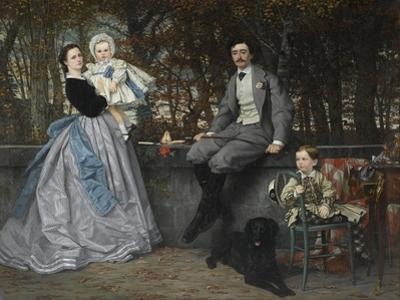 Portrait of the Marquis and Marchioness of Miramon and their Children, 1865