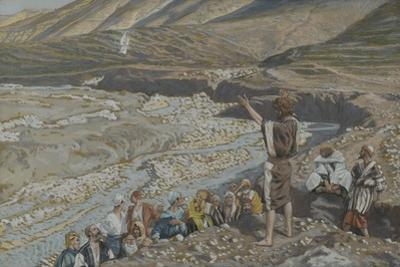 Saint John the Baptist Sees Jesus from Afar from 'The Life of Our Lord Jesus Christ' by James Jacques Joseph Tissot