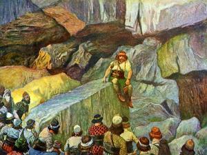 Samson in the caves of Etam by Tissot - Bible by James Jacques Joseph Tissot