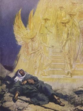 Samson puts forth a riddle by Tissot - Bible by James Jacques Joseph Tissot