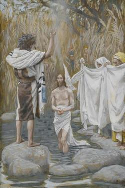 The Baptism of Jesus from 'The Life of Our Lord Jesus Christ' by James Jacques Joseph Tissot