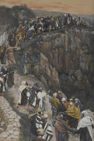The Brow of the Hill Near Nazareth from 'The Life of Our Lord Jesus Christ' by James Jacques Joseph Tissot