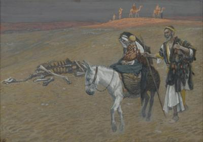 The Flight into Egypt from 'The Life of Our Lord Jesus Christ' by James Jacques Joseph Tissot