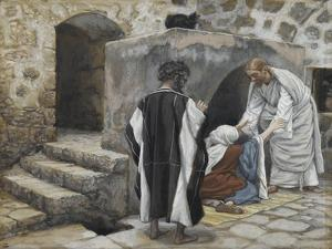 The Healing of Peter's Mother-In-Law from 'The Life of Our Lord Jesus Christ' by James Jacques Joseph Tissot