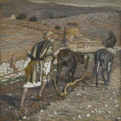 The Man at the Plough from 'The Life of Our Lord Jesus Christ' by James Jacques Joseph Tissot