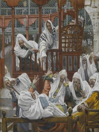 The Possessed Man in the Synagogue from 'The Life of Our Lord Jesus Christ' by James Jacques Joseph Tissot