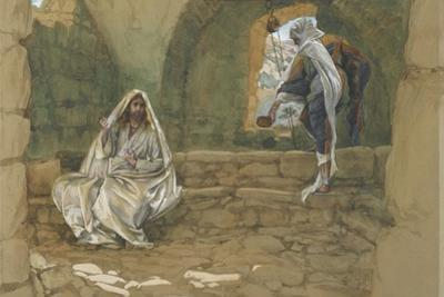 The Woman of Samaria at the Well from 'The Life of Our Lord Jesus Christ' by James Jacques Joseph Tissot