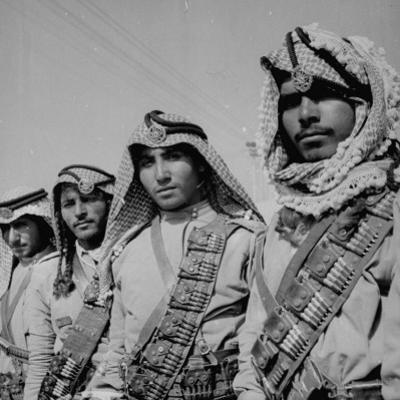 Members of the Arab Legion Wearing their Picturesque Head-Dresses