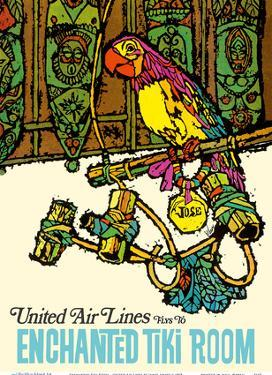 Enchanted Tiki Room - United Air Lines by James Jebavy