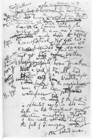 Page from the 'Finnegan's Wake' Notebooks, C.1922-39 by James Joyce