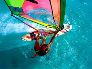 Windsurfing, Aruba, Caribbean by James Kay