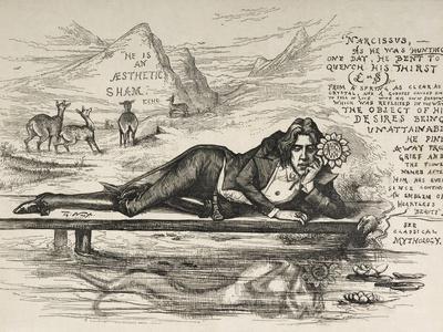 Oscar Wilde As Narcissus (With an Inscription)