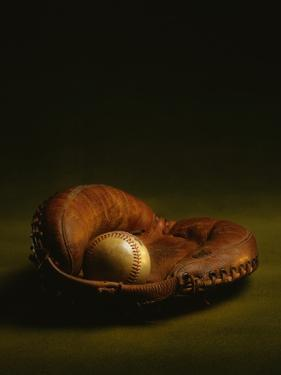 Glove and Baseball by James L. Amos