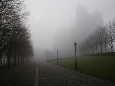 A View in the Morning Mist of the 13Th-Century Gothic Cathedral of Notre-Dame by James L. Stanfield