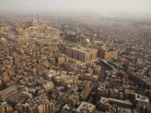 Aerial View of Cairo, Egypt by James L. Stanfield