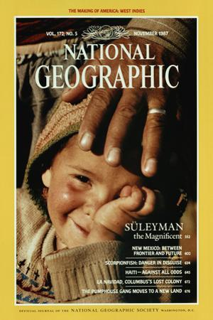 Cover of the November, 1987 National Geographic Magazine by James L. Stanfield