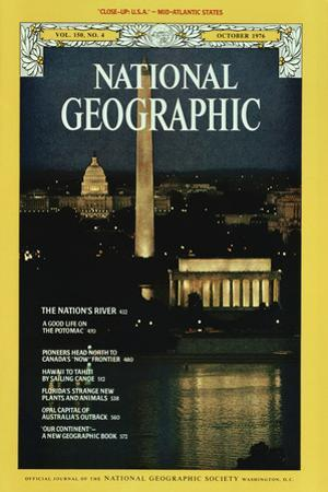 Cover of the October, 1976 National Geographic Magazine by James L. Stanfield