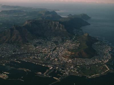 Early Morning Aerial View of Cape Town, South Africa