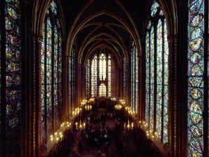 Sainte-Chapelle Cathedral Interior by James L. Stanfield