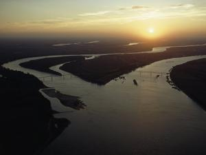 The Confluence of the Ohio and Mississippi Rivers, Cairo, Illinois by James L. Stanfield