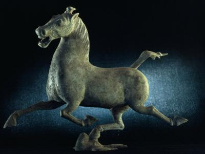 The Han Dynasty Famous Flying Horse of Gansu Sculpture, China by James L. Stanfield