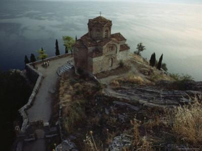 The Ohrid Region Is a World Heritage Site, Church of Saint John Kaneo, Lake Ohrid, Yugoslavia by James L. Stanfield