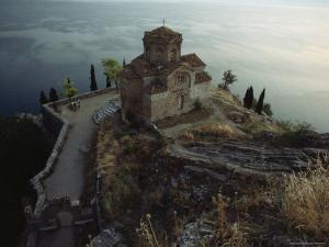 The Ohrid Region Is a World Heritage Site, Church of Saint John Kaneo, Lake Ohrid, Yugoslavia by James L. Stanfield