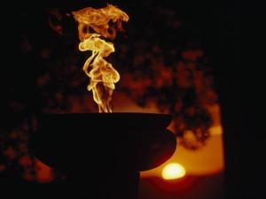 Zimbabwe's Eternal Flame of Independence at Sunset, Salisbury, Zimbabwe by James L. Stanfield