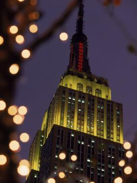 Empire State Building at Night, NYC, NY by James Lemass