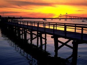 Newport Harbor and Newport Bridge, RI by James Lemass