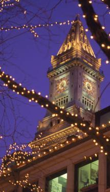 Quincy Market and Customs House Tower, Boston, MA by James Lemass