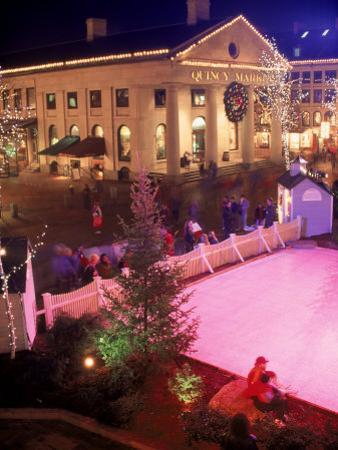 Quincy Market at Christmas, Boston, MA