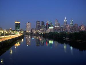 Skyline and Schuykill River, Philadelphia, PA by James Lemass
