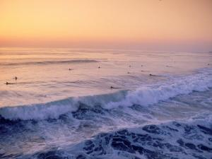 Surfers, Mission Beach, San Diego, California by James Lemass