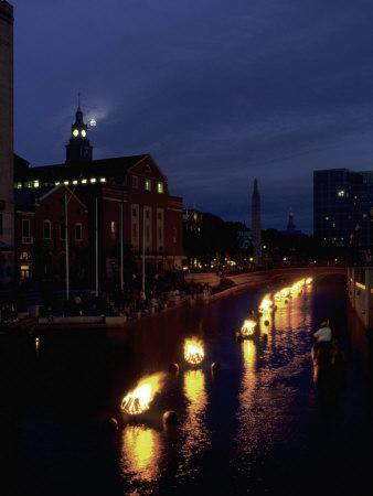Waterplace Park at Night, Providence, RI