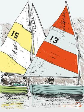 Scow Sails by James Lord