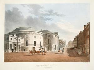 Rotunda and New Rooms, Dublin, 1795 by James Malton