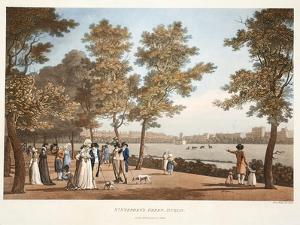 St. Stephen's Green, Dublin, 1796 by James Malton