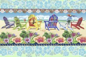 Coastal Chairs Floral by James Mazzotta